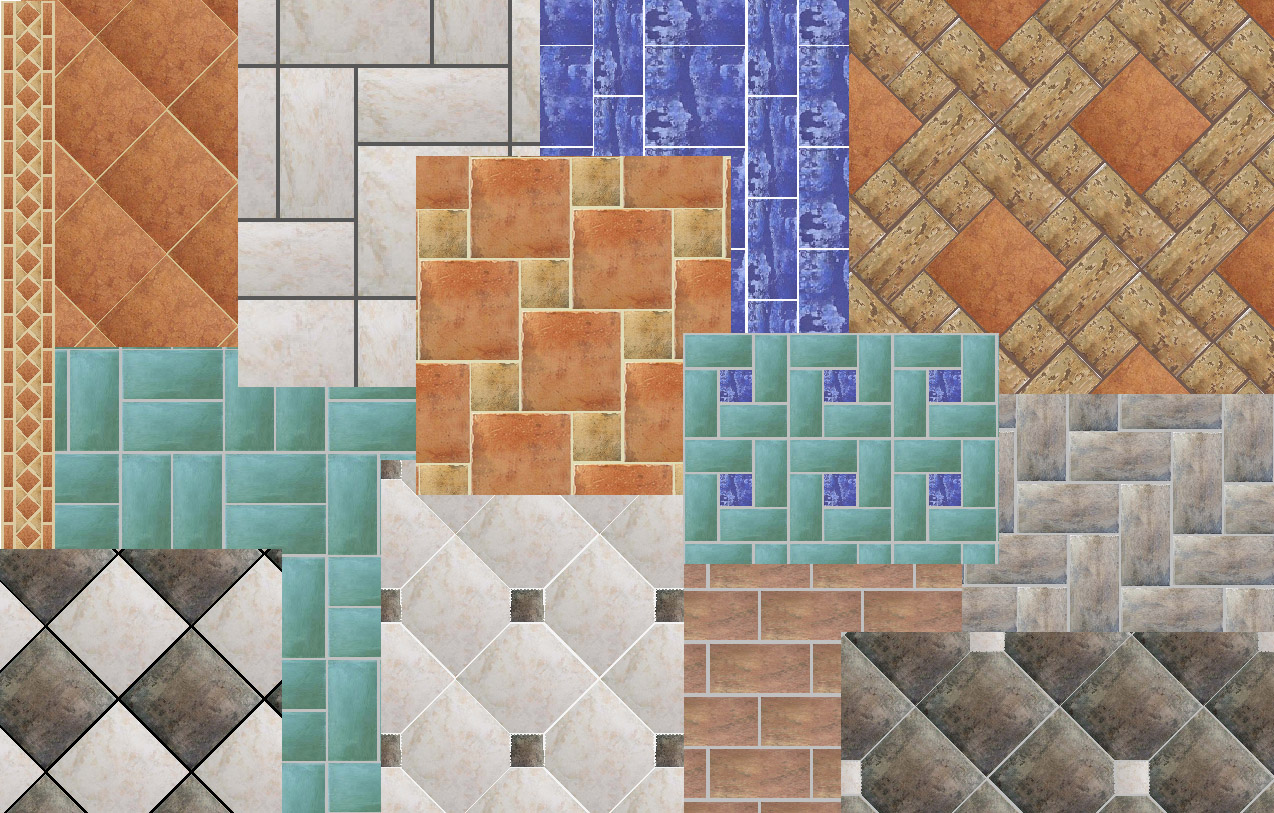Mosaic tile floor designs